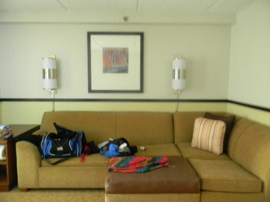 Hyatt Place Bush Intercontinental Airport: sofa