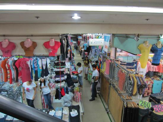 Bright clothes inside Tutuban Mall