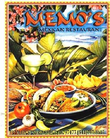 Memo's Mexican Restaurant: Menu Portrait