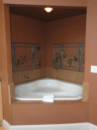Eureka Springs Treehouses : Romantic Jetted Tub Alcove for 2