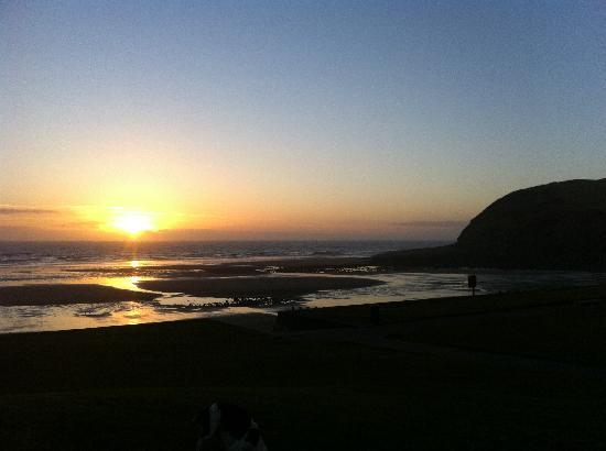St. Bees Beach: Sunset on St Bees