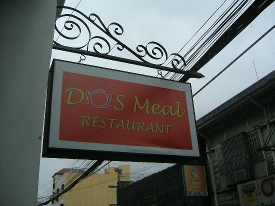 Dos Meal Restaurant: A lovely signboard