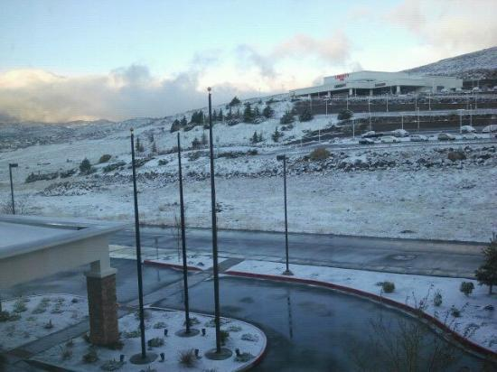 Comfort Suites Prescott Valley: April snow outside (from the 3rd floor)