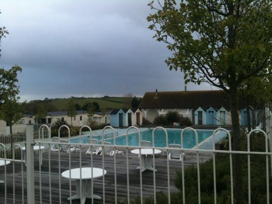 Outside pool picture of seaview holiday park haven weymouth tripadvisor for Caravan sites in dorset with swimming pool