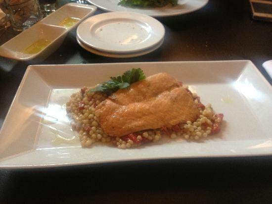 Artisan Restaurant & Cafe: salmon with cous cous from israel