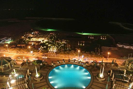 Four Seasons Hotel Alexandria: Night view from the Suite