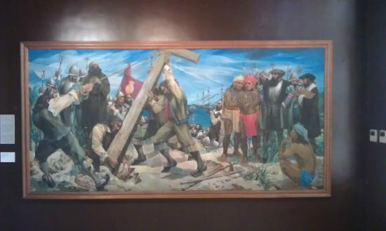 National Museum: Planting the first cross - Vicente Manansala 1965