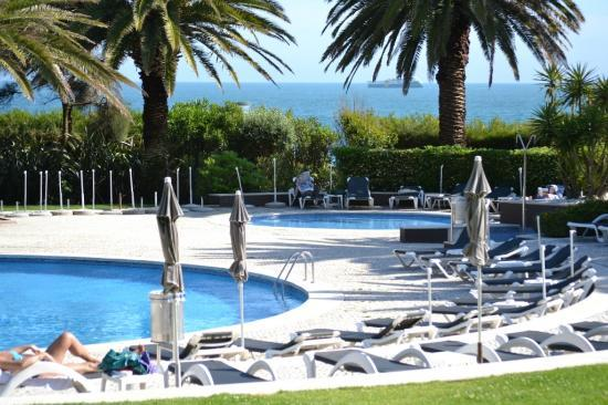 Vila Gale Cascais: The view from the terrace of our room on the first floor.