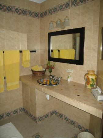 Baldwin's Guest House Cozumel: Nice bathroom in the front garden room