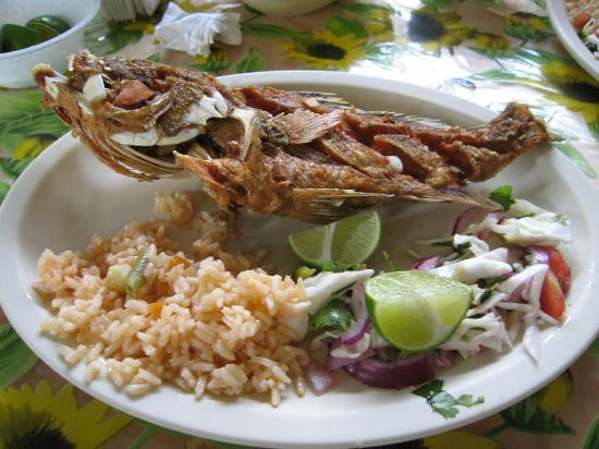 Baldwin's Guest House Cozumel: Fried Snapper at the local fish restaurant, not to be missed