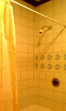Cross Keys Inn : Shared bathroom - no knob to adjust shower even!