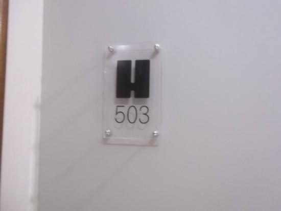 Hotel San Pedro: Número de la habitación.