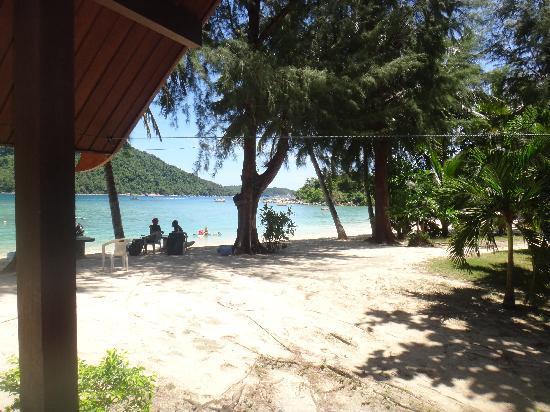 Pulau Perhentian Besar, Malaysia: vue du bungalow