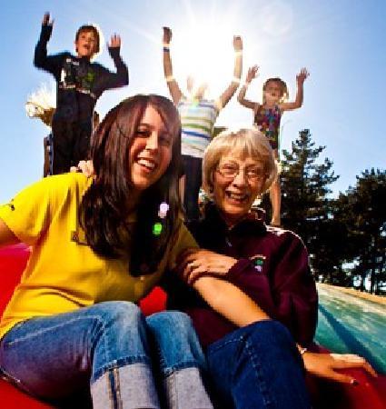 Williamsburg KOA Campground: Jumping Pillow Fun