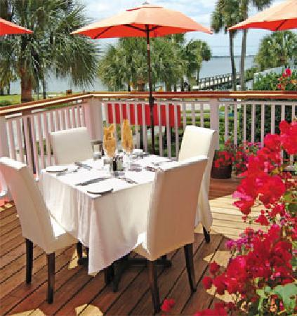 Djon's Steak & Lobster House : Upstairs seating on our outside deck
