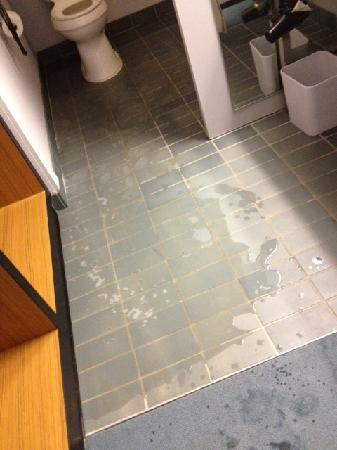 aloft Richmond West: This is how the showers leak.. this was worse than normal but shows the problem
