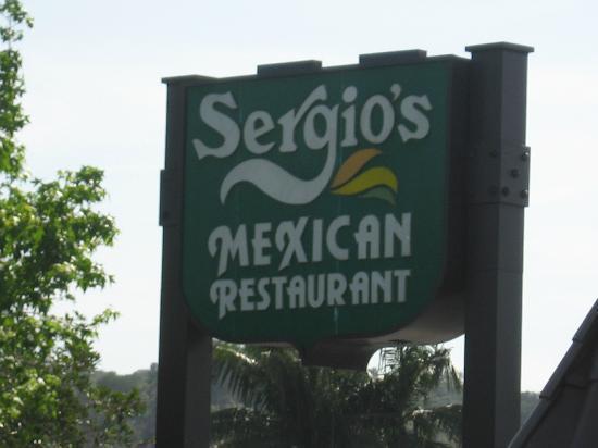 Sergio's Mexican Restaurant Sign Glendora