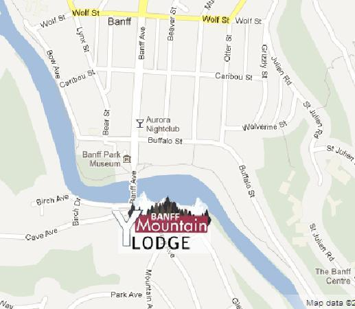 ‪يوكا بانف هوتل: Great quiet downtown location on the banks for the Bow River‬