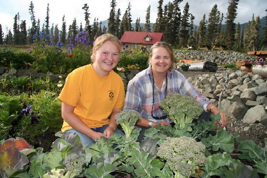 Ultima Thule Lodge: Fresh garden veggies served everyday