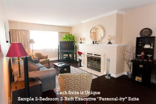 Rosellen Suites At Stanley Park : Sample 2-Bedroom 2-Bath Personal-ity Queen