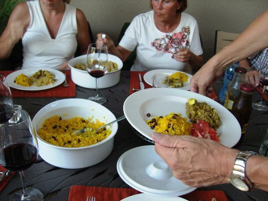Hajo's Lodge: Abendessen (Einladung der Gastherren)