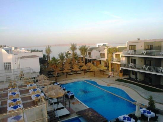Hurghada SeaGull Beach Resort: we woke up to this beautiful view every day :)