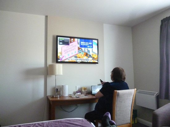 Premier Inn Weymouth Seafront Hotel: the TV
