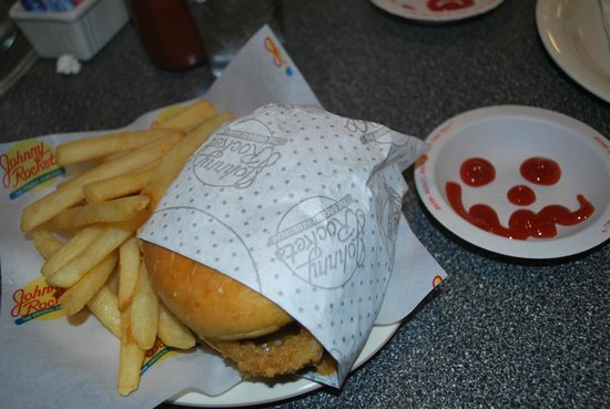 Johnny Rockets: My burger and fries