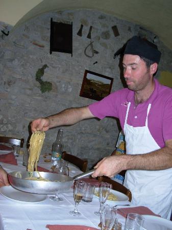 Bovino, Italie : Nicola in azione.
