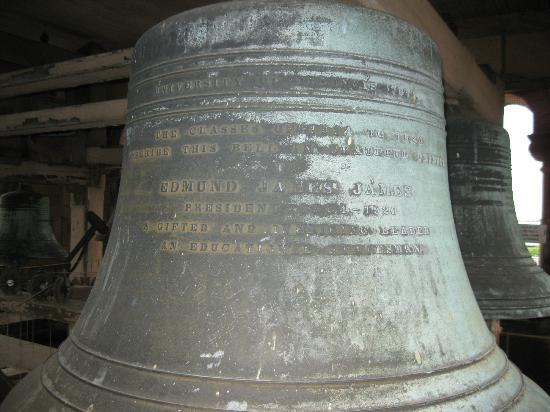 Altgeld Hall Tower: Some of the bells contains inscriptions of who donated them