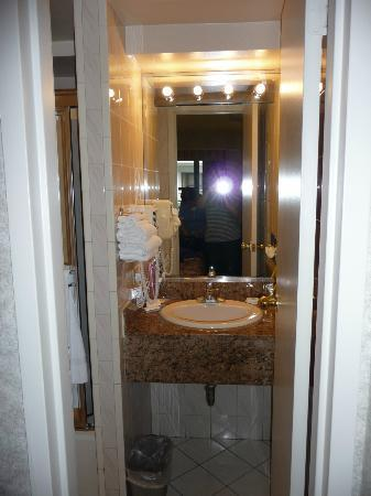 Travel Inn Hotel New York: Lorsqu'on ouvre la porte de la salle de bain