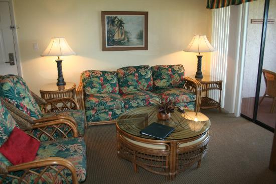 Club Regency of Marco Island: Living room is very casual; two chairs and couch