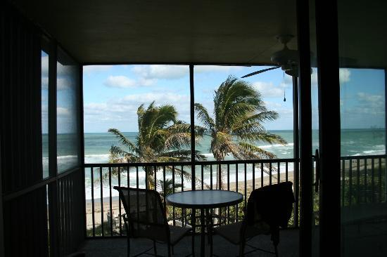 Plantation Beach Club at Indian River: View from balcony in 405