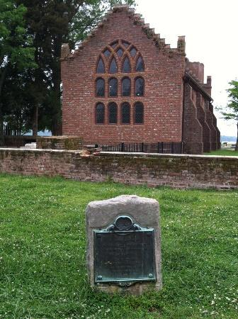 Historic Jamestowne: The church at Jamestown
