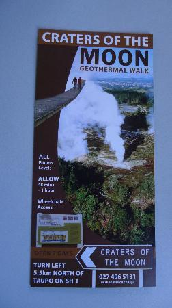 Taupo, Nouvelle-Zélande : Craters of the Moon brochure