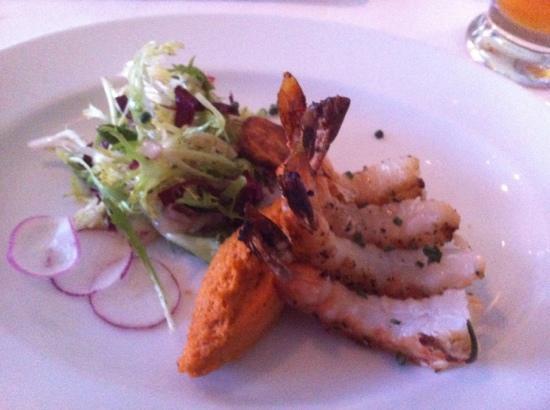 Amuse Restaurant: very large prawns!
