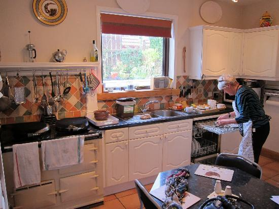 Braeside House : Margaret preparing her amazing breakfasts