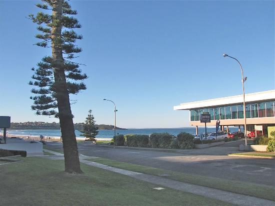 View of beach from Mollymook Shores