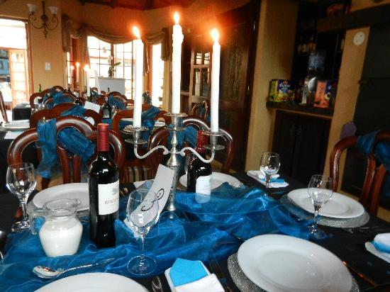 Van Dykshuis Guest Lodge: Dinner function at Van Dykshuis