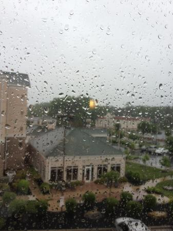 Holiday Inn Express Greensboro-Wendover: View from room 428 in a rainy
