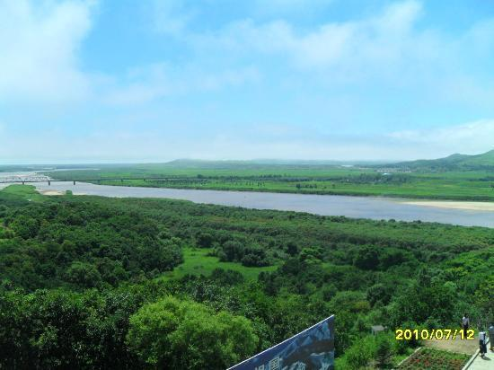 Fangchuan National Scenic Resort: Вид на Северную Корею