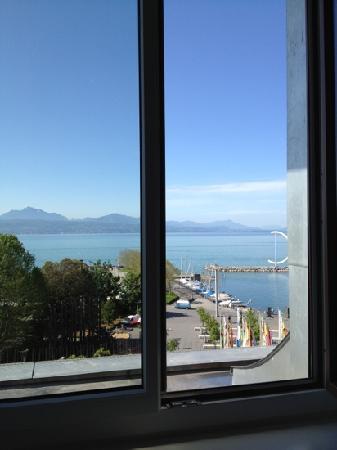 Hotel Aulac: vista del lago da camera