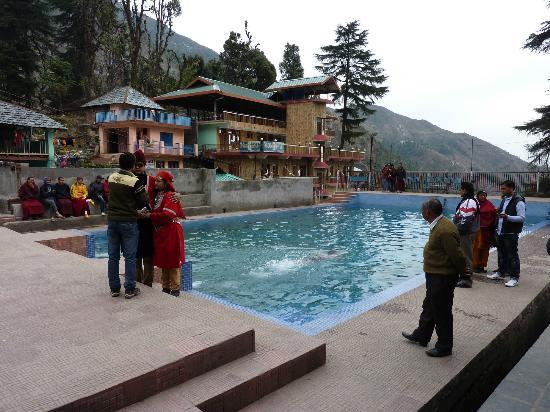 Bhagsu fall picture of bhagsu waterfall mcleod ganj - Hotels in dharamshala with swimming pool ...