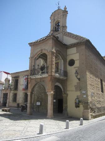 Electric Micro Tourist Bus Antequera : Church of Santiago. Antequera