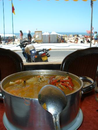 Restaurante Ribamar: Arroz de marisco con vistas al mar