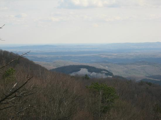 Roaring Gap, NC: View of Stone Mountain from Blue Ridge Parkway