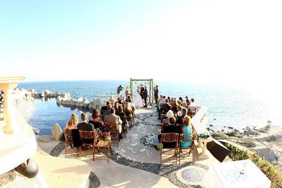 Sunset Mona Lisa Wedding Ceremony 4 2017 On Terrace
