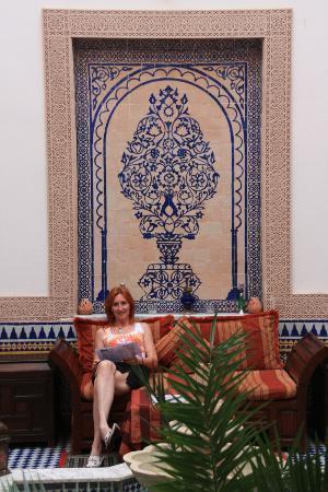 Riad Ahlam: un coin du patio
