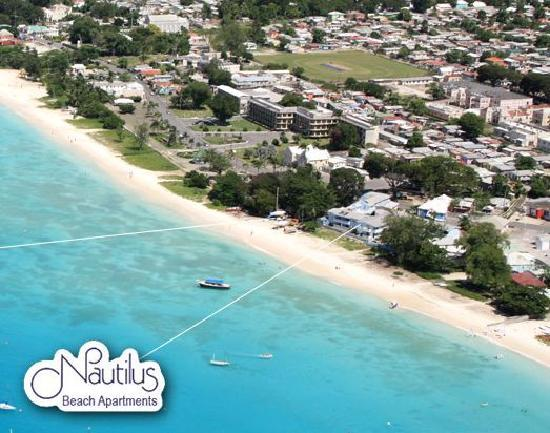 Nautilus Beach Apartments: An aerial view of Nautilus and Carlisle Bay