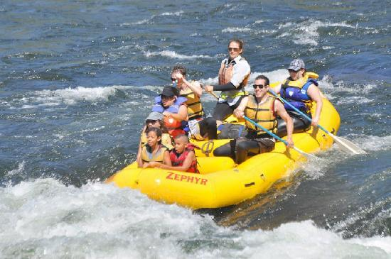 Zephyr Whitewater Expeditions: Tess Leading the Troops